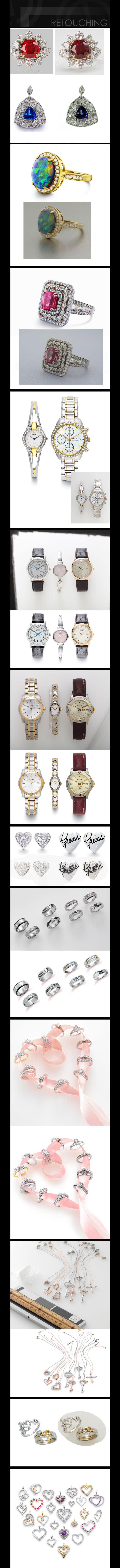 jewelry retouch color diamond  photoshop
