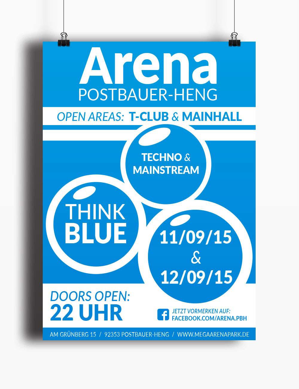Grafikdesign Plakatgestaltung Arena Postbauer Heng On Behance