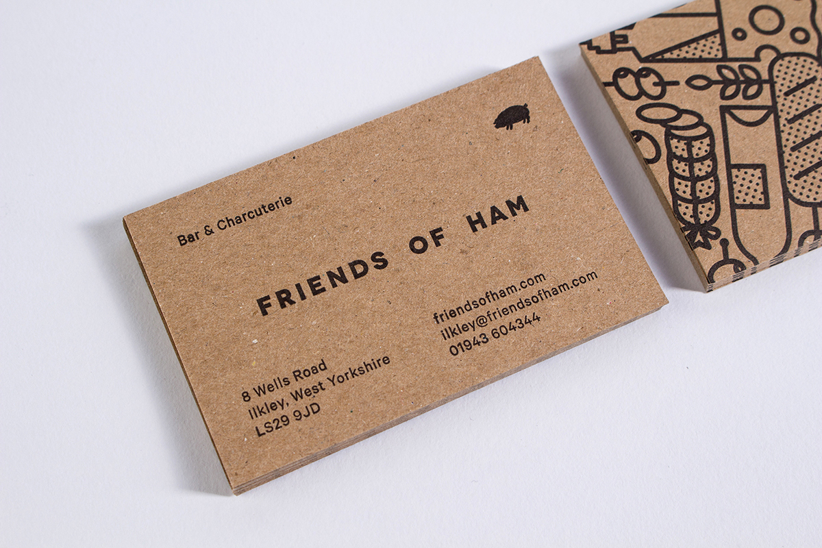 ham Cheese Charcuterie spanish cafe restaurant wine beer business card invite foil Stationery icons paper Food