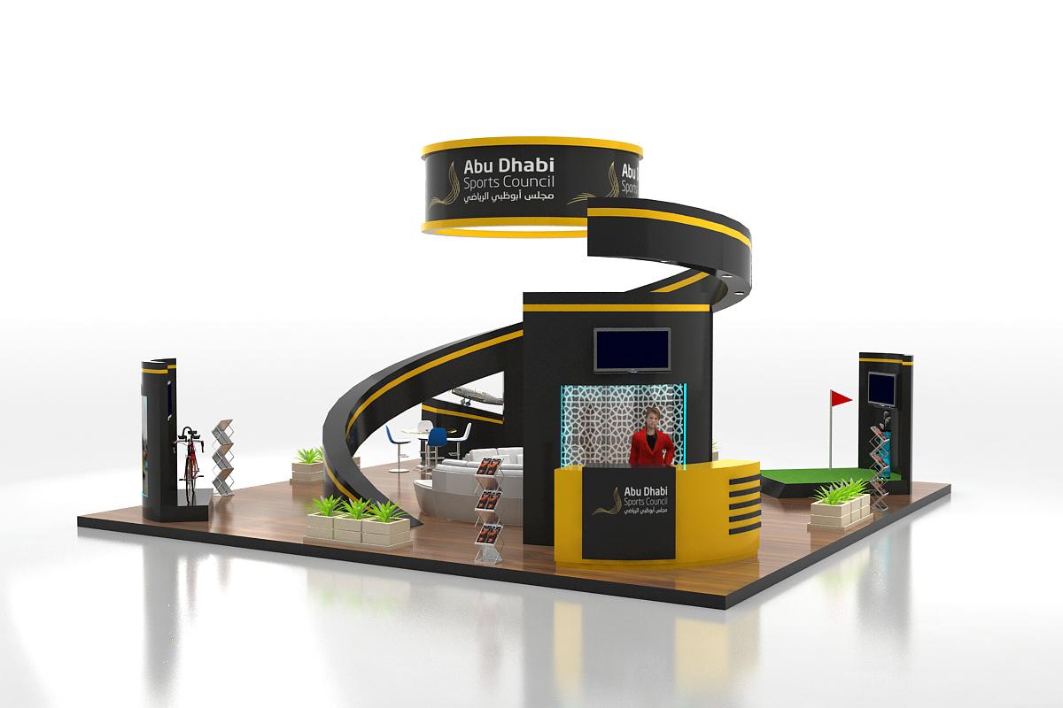 Exhibition Stand Design Abu Dhabi : Abu dhabi sport council exhibition stand design on behance