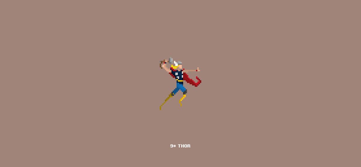 Marvel Character Design Behance : Pixel art marvel characters on wacom gallery