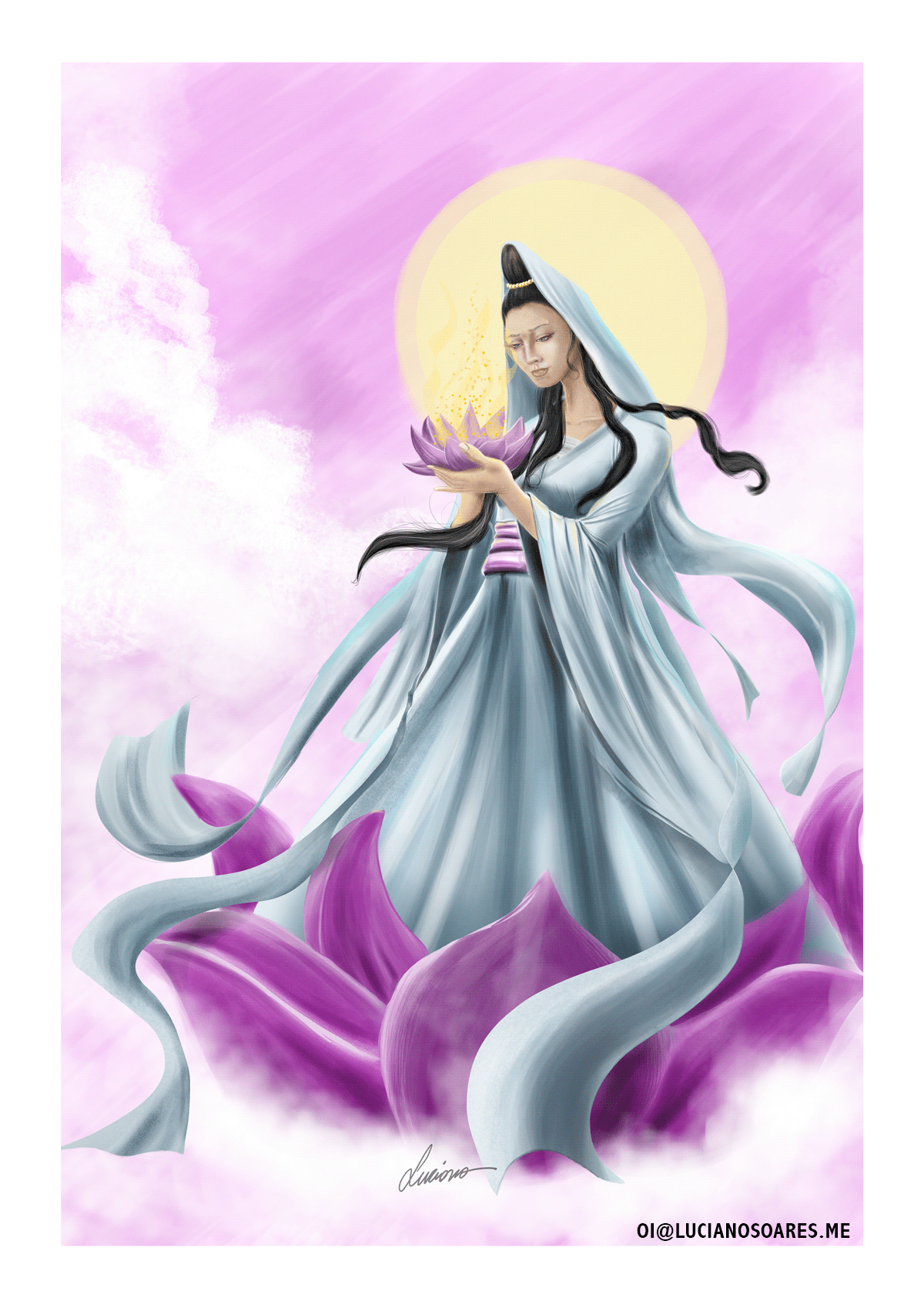 Digital Art  digitalpainting illustrtation kuanyin   painting