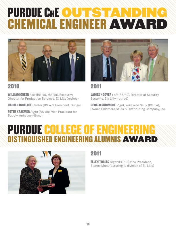 Print Design | Purdue Chemical Engineering Newsletter on Behance