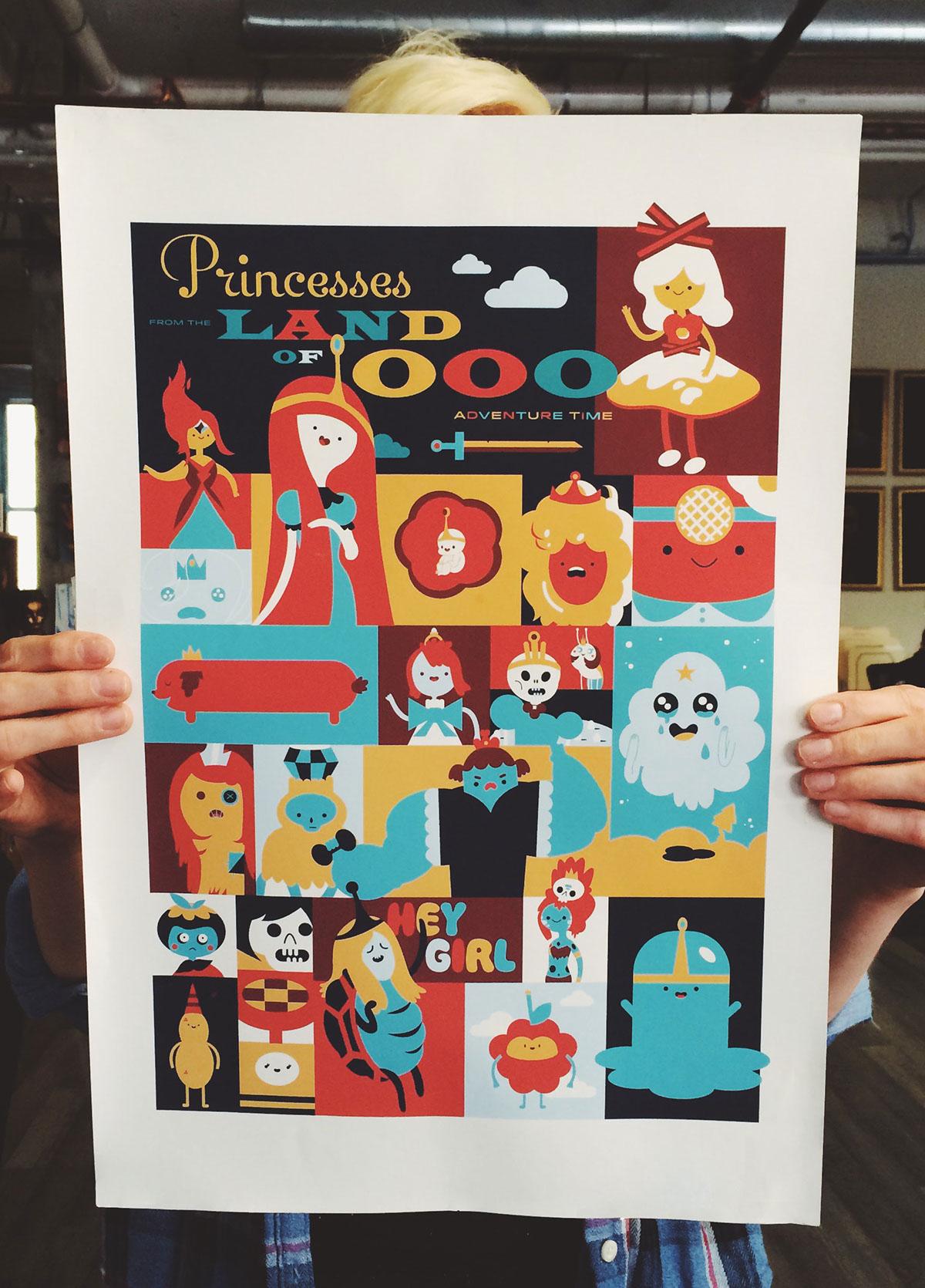 Adventure Time fakeanything Poster Design fanart Princess Lumpy Space Princess princess bumblegum cartoon network