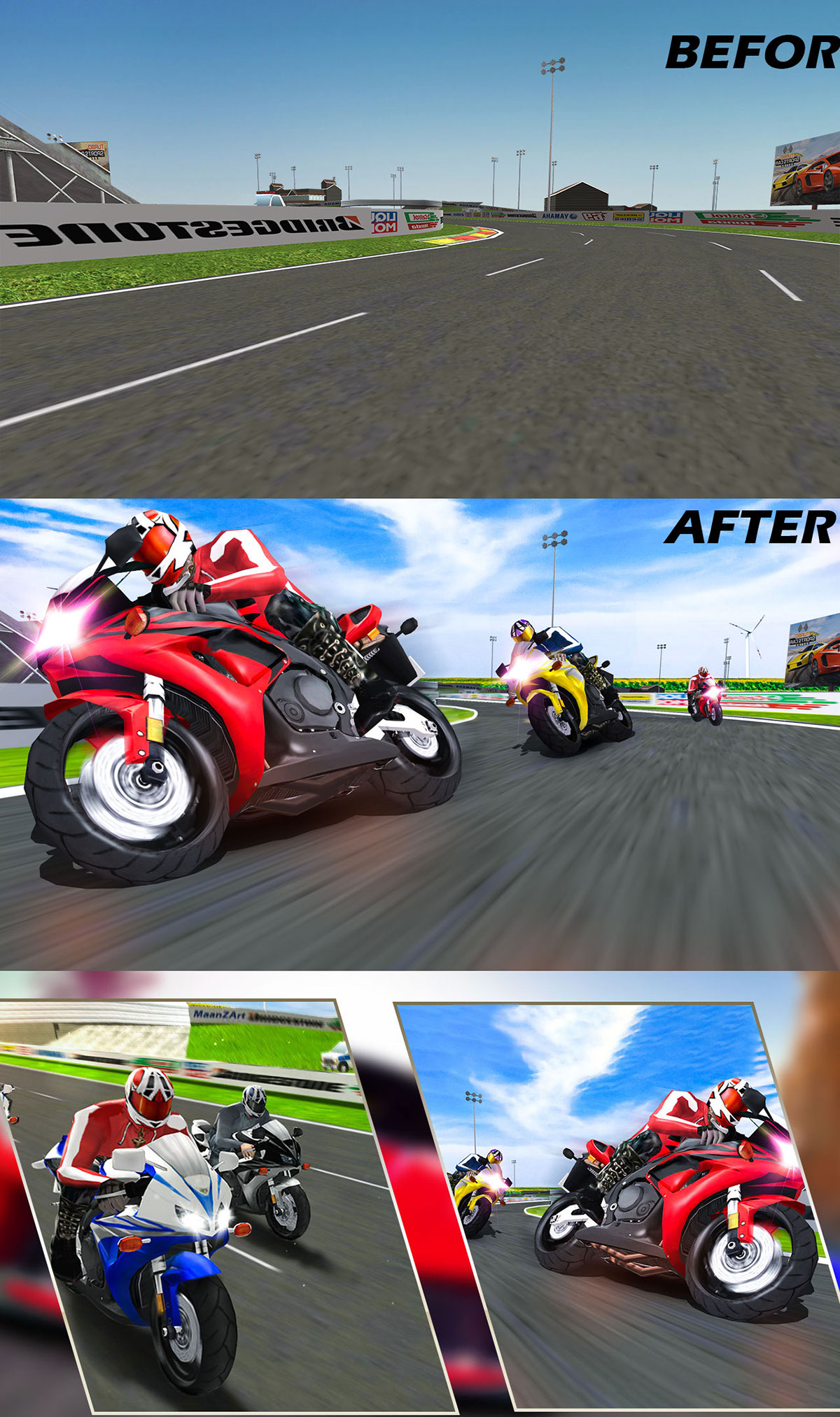 Bike Racing Game Speed Effect and Manition on Behance on