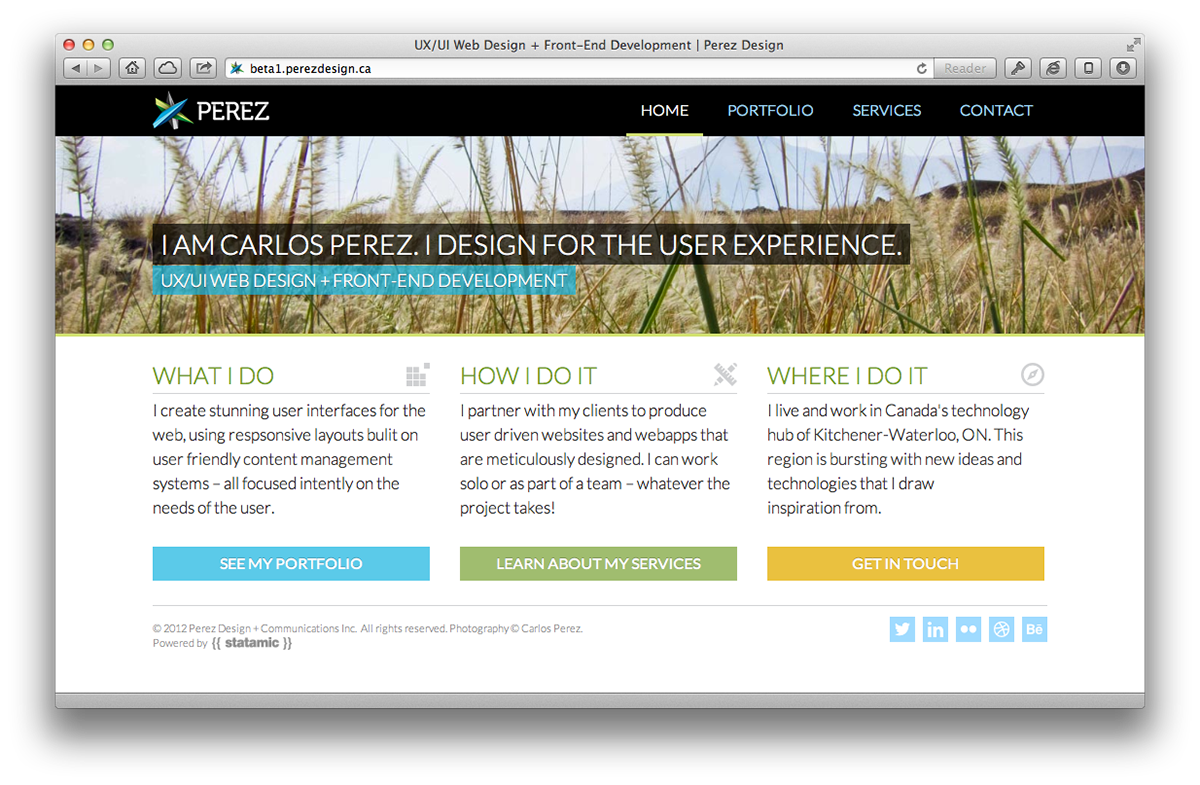 ux ui web design front end development on behance ux ui web design html5 css3 front end development statamic