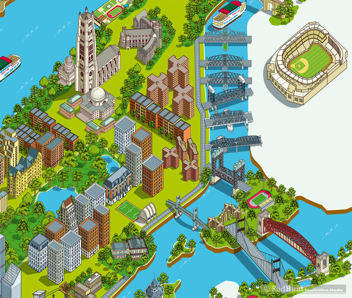 Map Of New York Suburbs.Circle Line Sightseeing Cruises New York Map 2017 On Behance