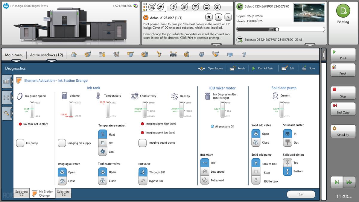 UI for HP Digital Printer on Behance