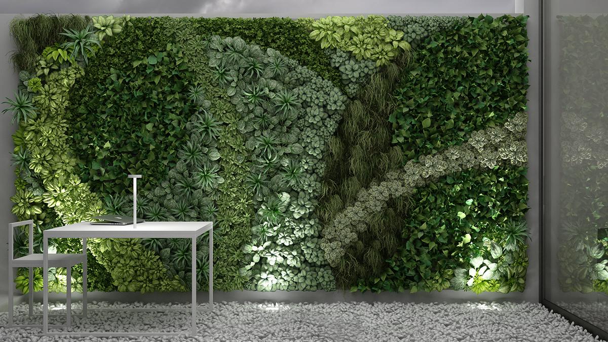 3D MODEL: Vertical Gardening. On Behance