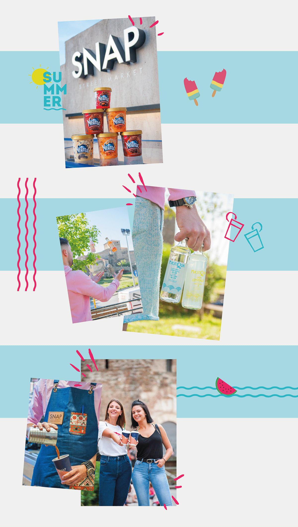 campaign ILLUSTRATION  media presentation snap social summer graphic design  market Street