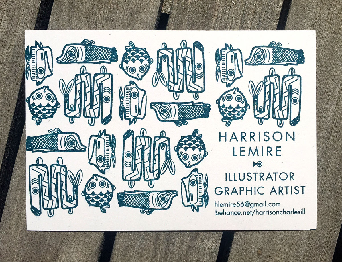 Harrison C Lemire Business cards