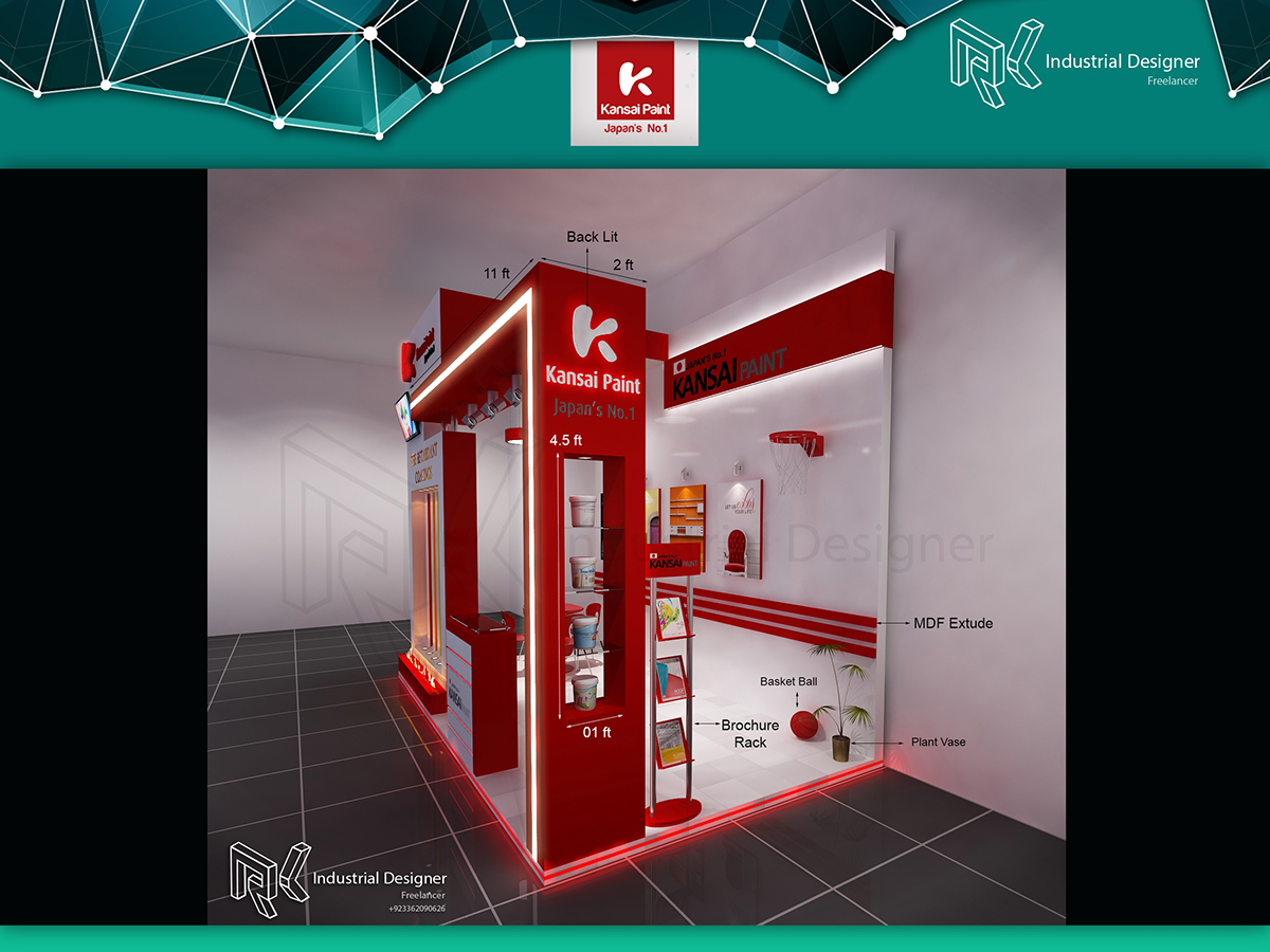 Exhibition Stall Designers In Karachi : Kansai paint exhibition stall design on pantone canvas gallery