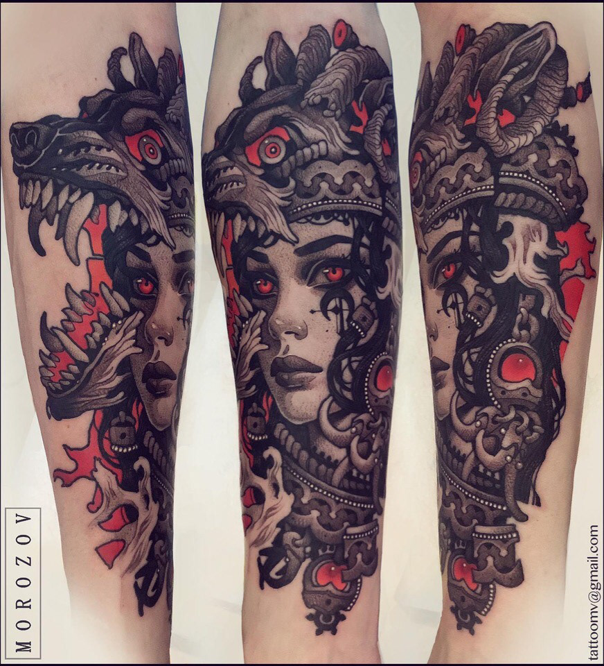 Image may contain: tattoo and abstract
