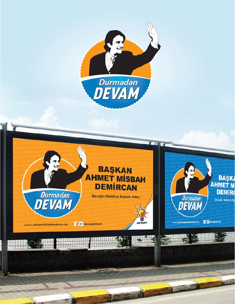 Billboard  Design AK Parti AK Party Beyoğlu Mayor Ahmet Misbah Demircan Beyoğlu Belediye Başkanı yerel seçim kampanyası