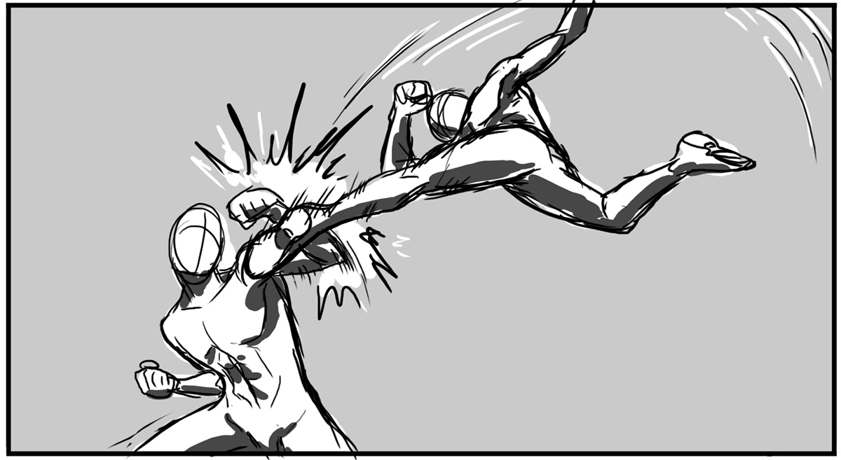 Comic Storyboards | Thesis Comic Book Fights Through Storyboarding On Behance