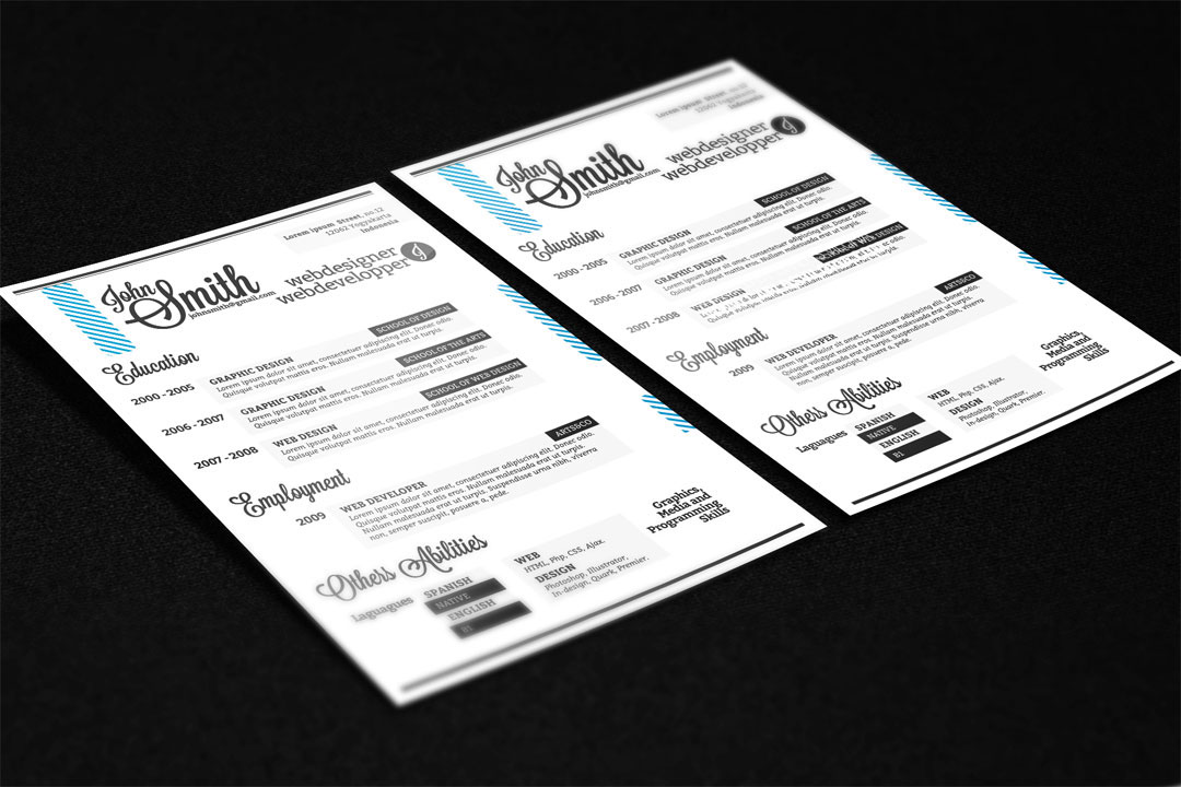 free a4 resume on behance