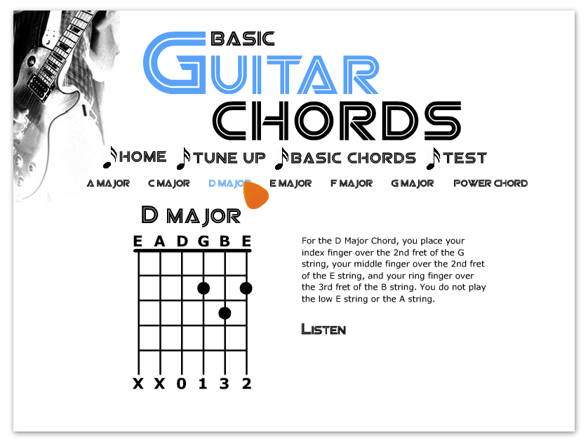 Flash - Guitar Chord Training Program on Behance
