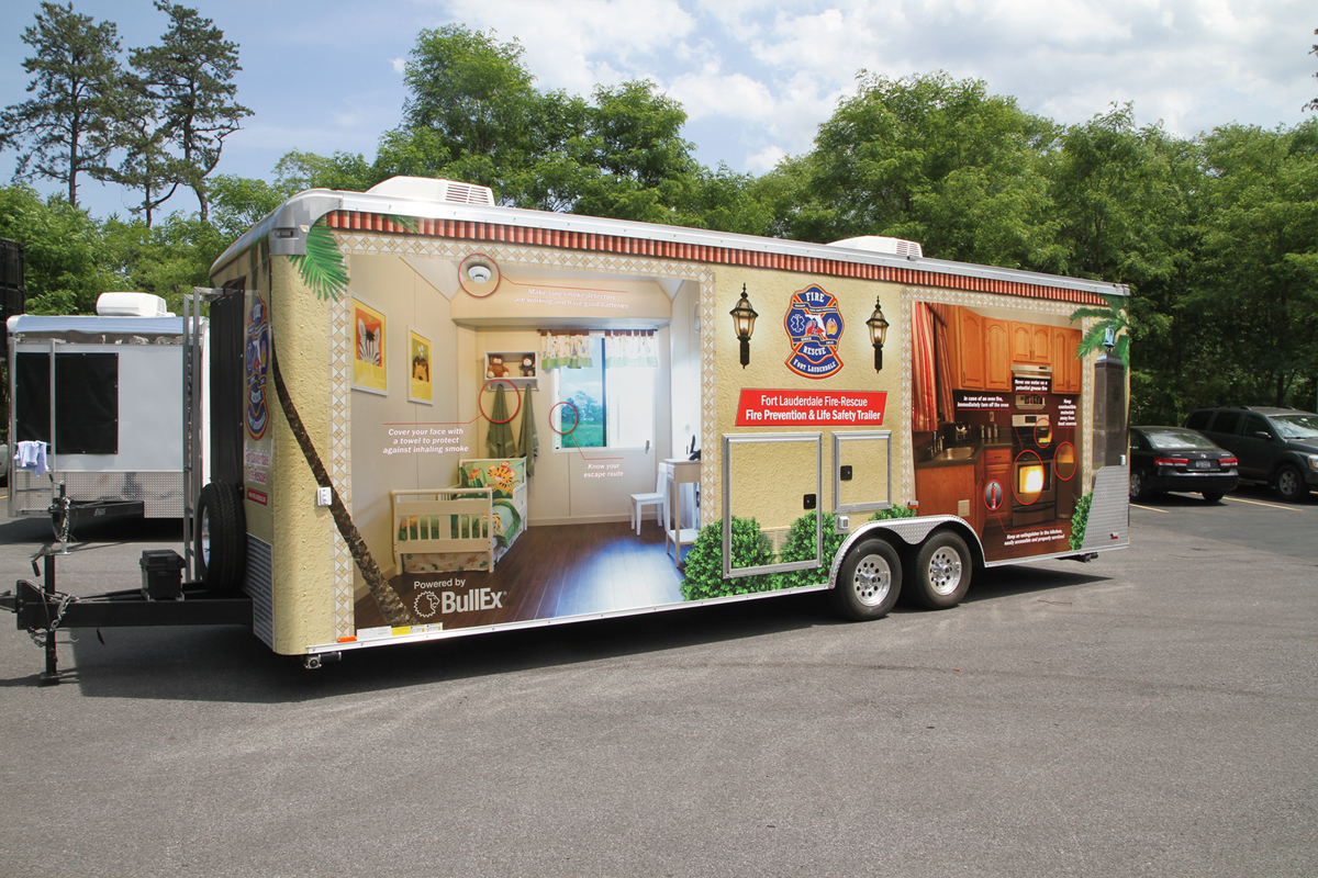 Trailer Safety : Fire safety trailer full graphic wraps on behance