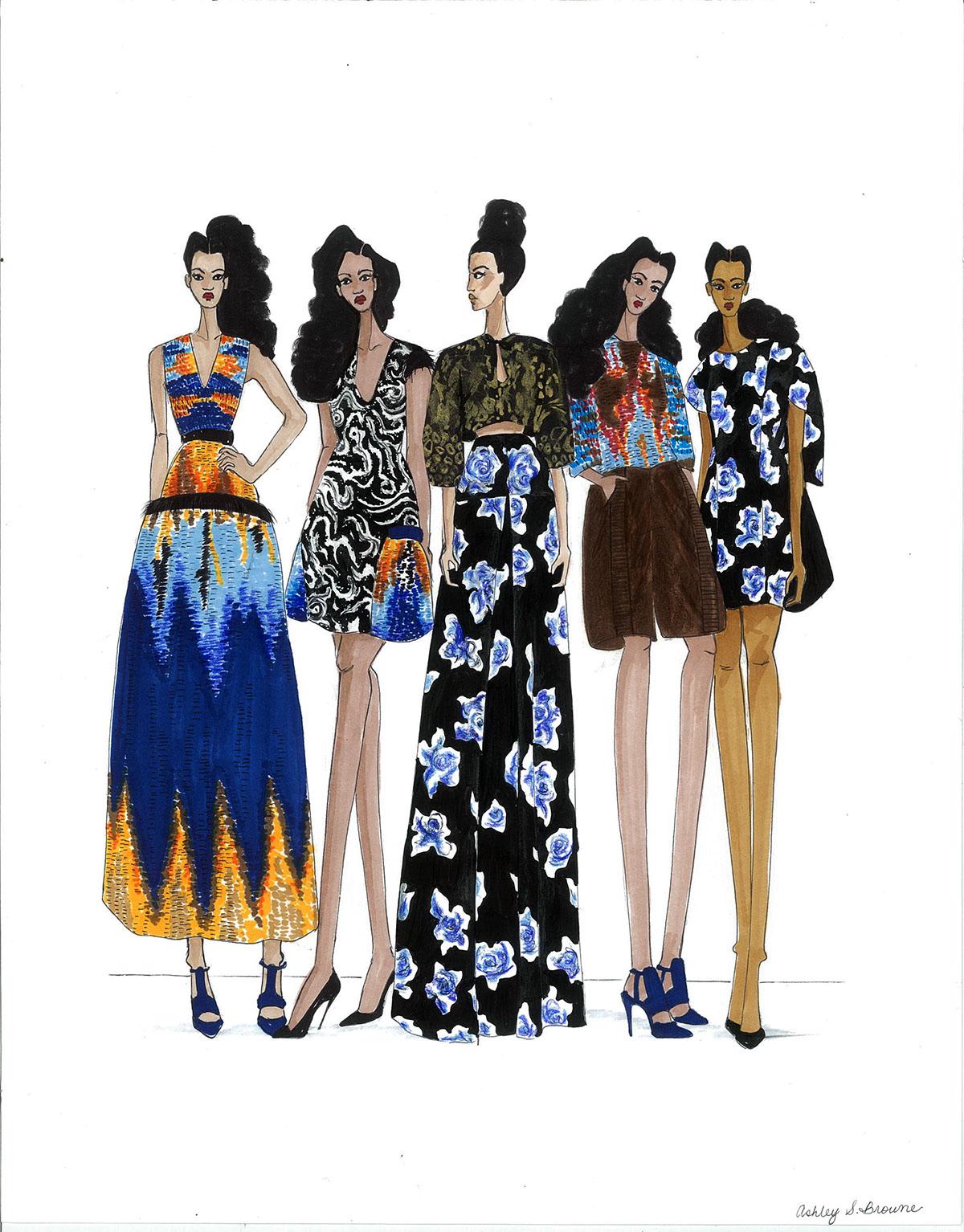 ILLUSTRATION  fashion illustration fashion design fashion styling Fashion  SCAD Fashion blackgirlmagic natural hair Natural Hair Art