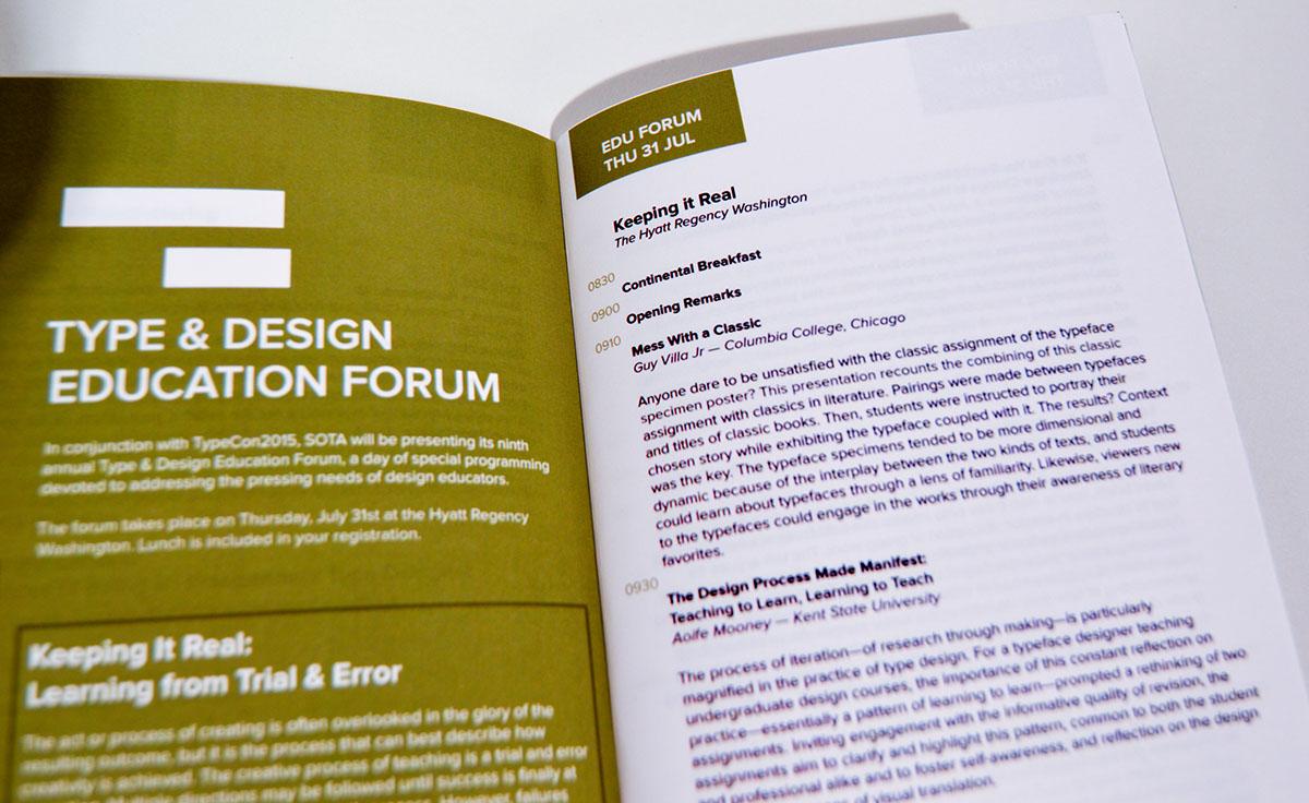 brochure TypeCon typographic book