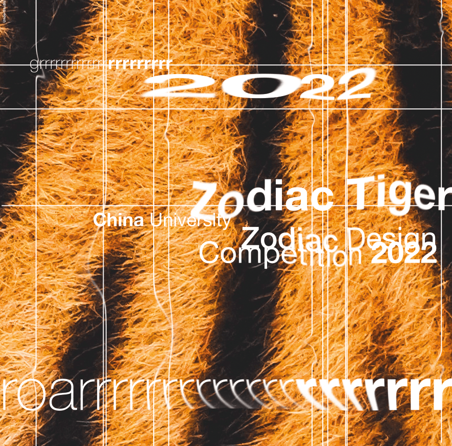 Chinese College design Francesco Mazzenga graphic design  Poster Exhibition 2021 tiger Zodiac Tiger
