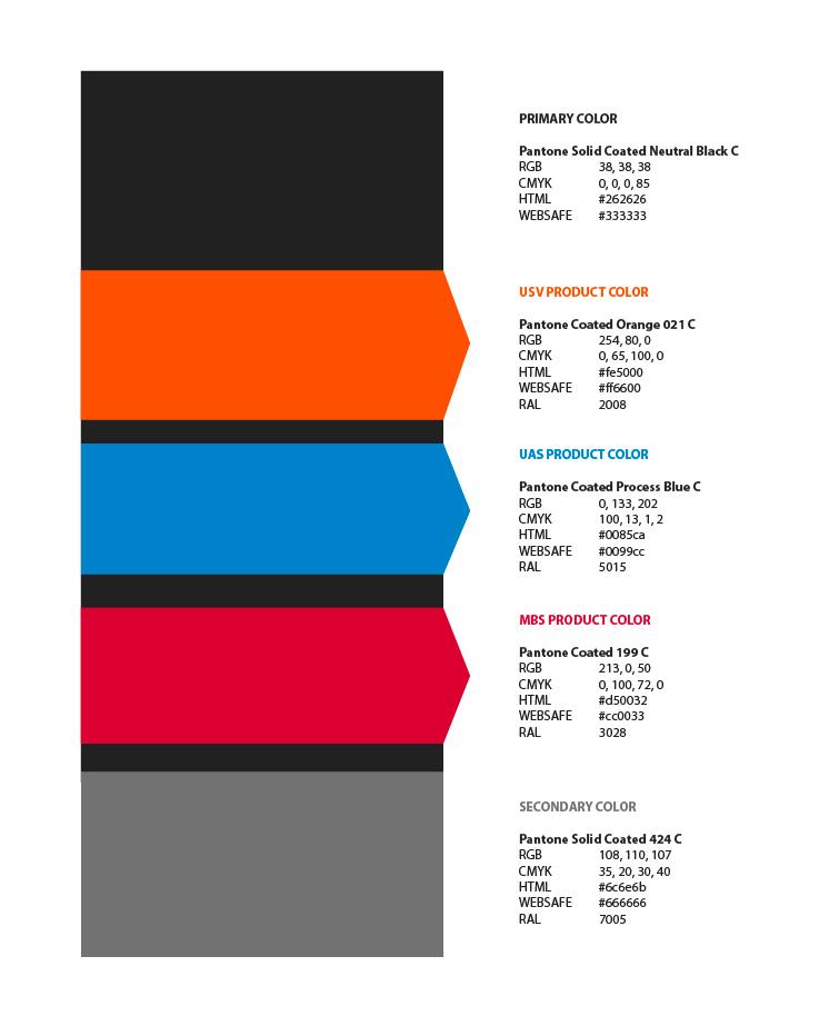 Maritime Robotics Graphics Book - MR Profile Colors