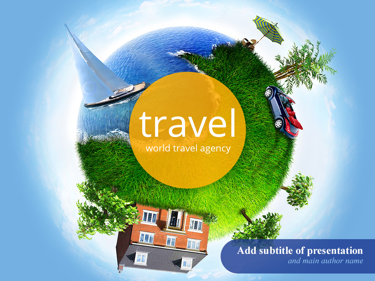 Free World Travel Agency Powerpoint Template On Behance