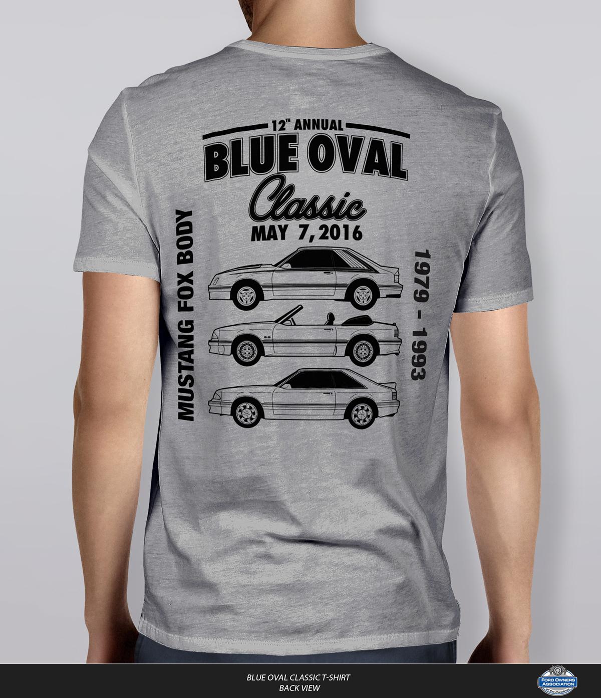 2016 FOAC Blue Oval Classic T-Shirt Design on Behance