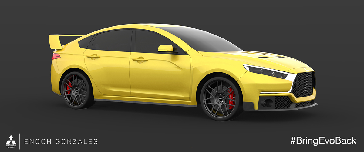 2018 Mitsubishi Lancer Evolution XI on Behance