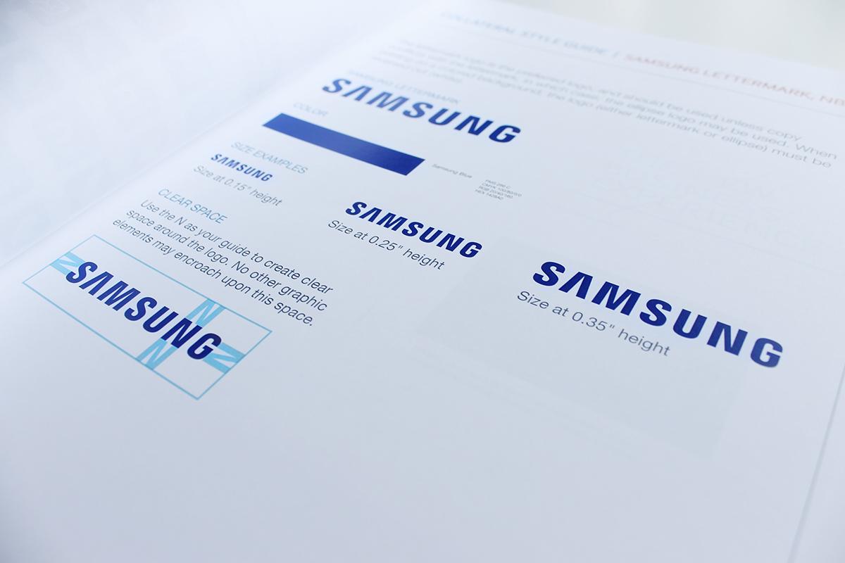 samsung ebd brand guidelines on behance rh behance net