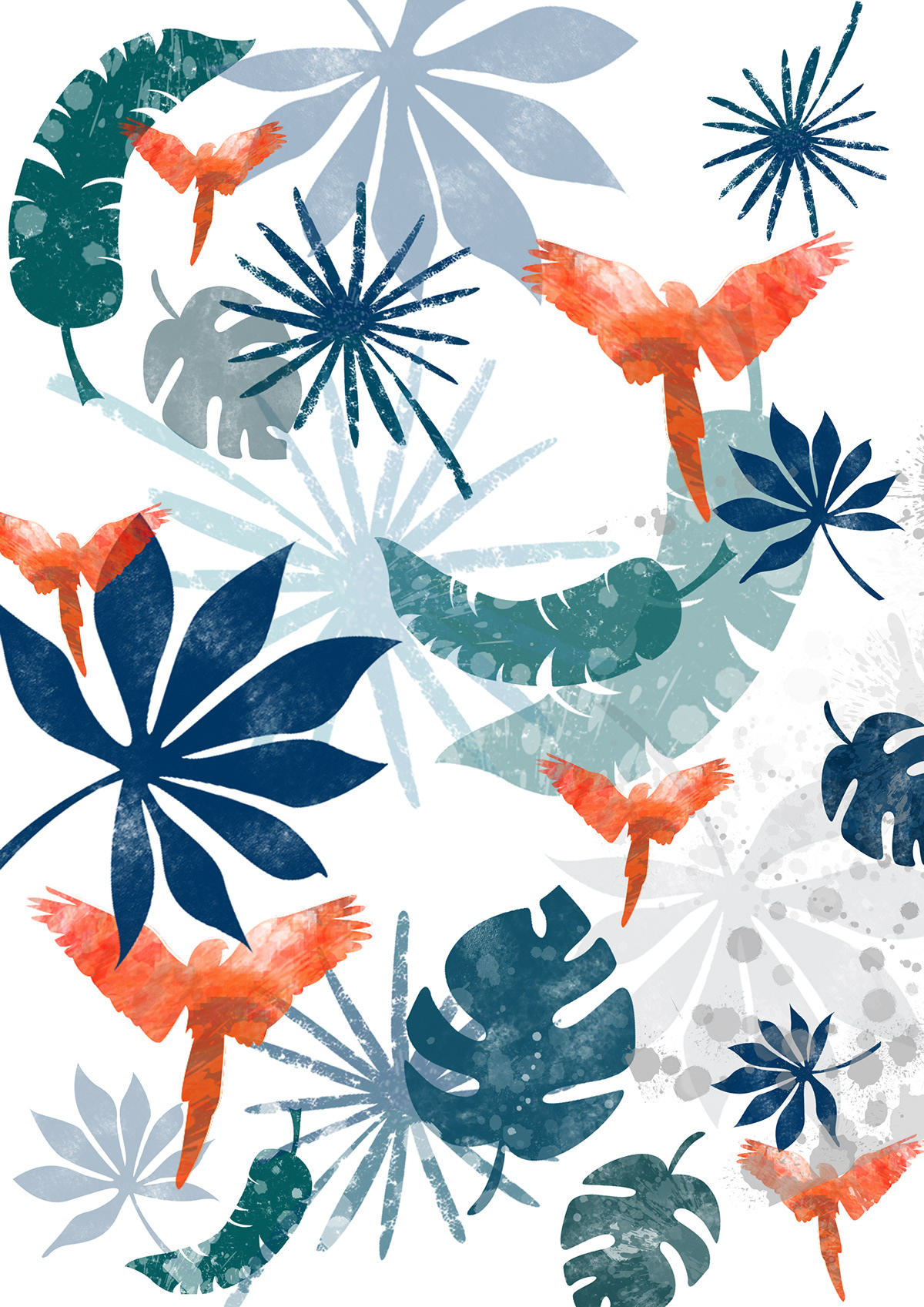 textile Wrapping paper pattern design  overall print