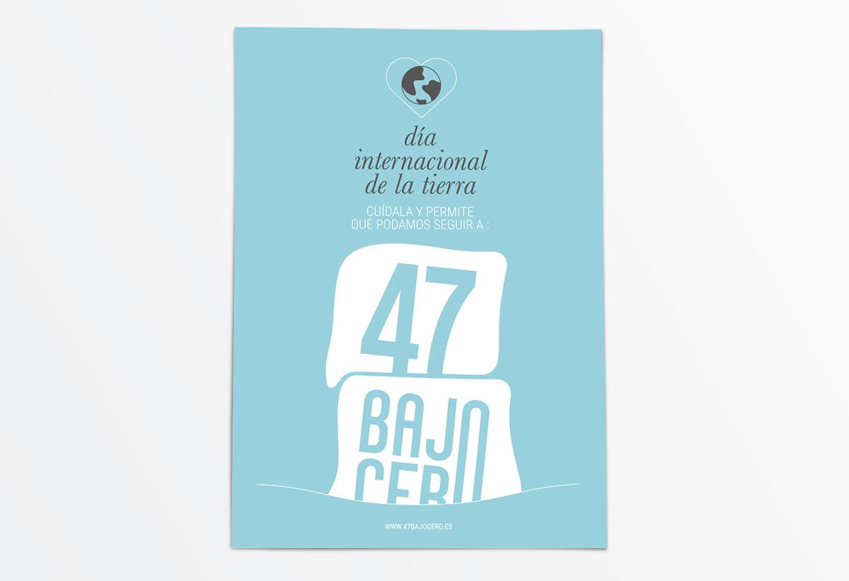 cartel Día Tierra diseño gráfico