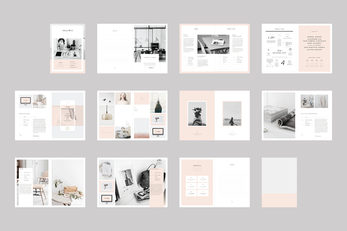 Interior design portfolio template indesign for Interior design portfolio layout ideas