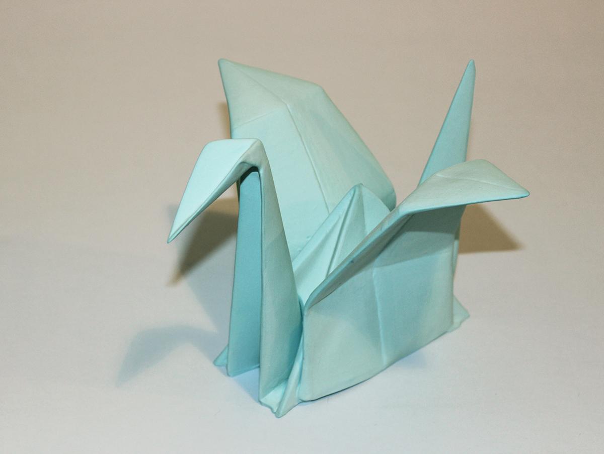 Decorative Porcelain Origami Cranes II On Behance