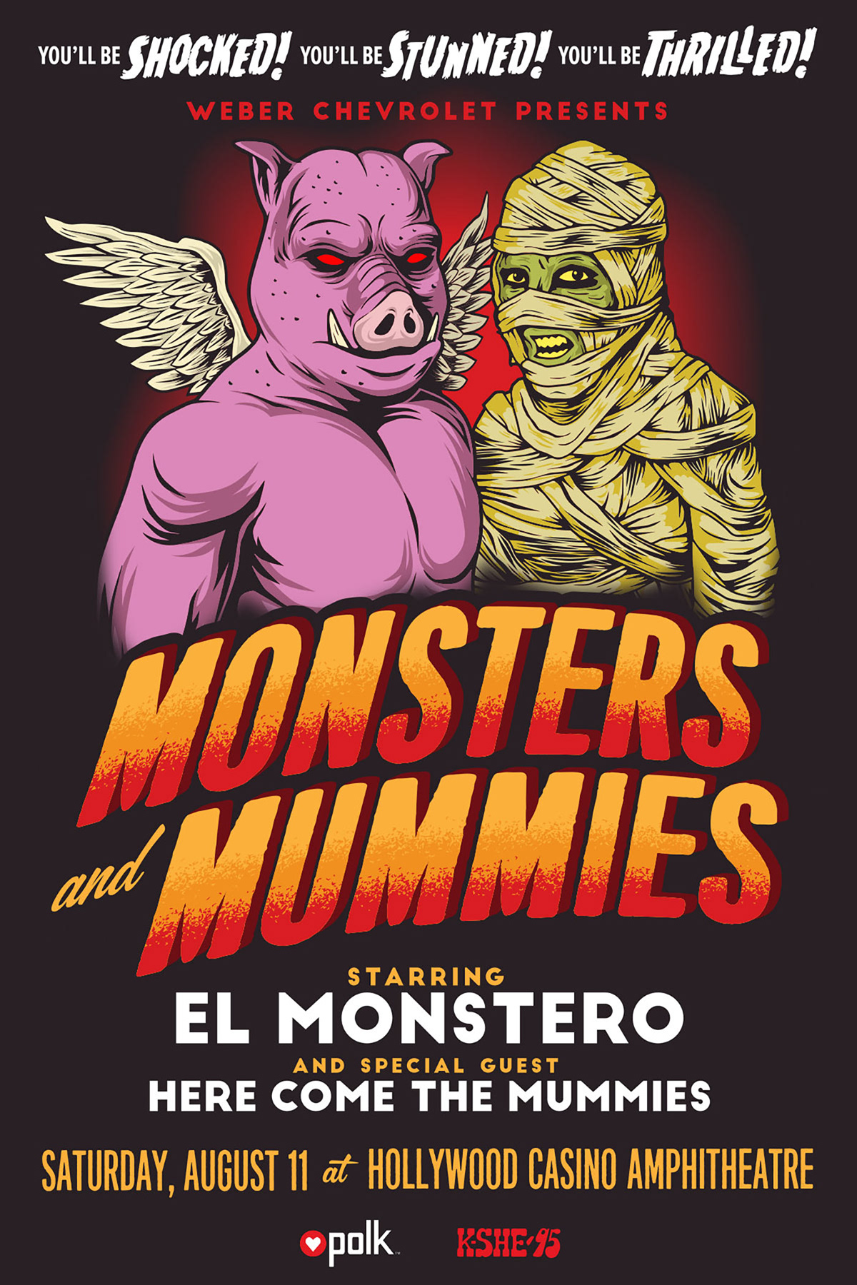 pink floyd el monstero Here Come the Mummies GigPoster