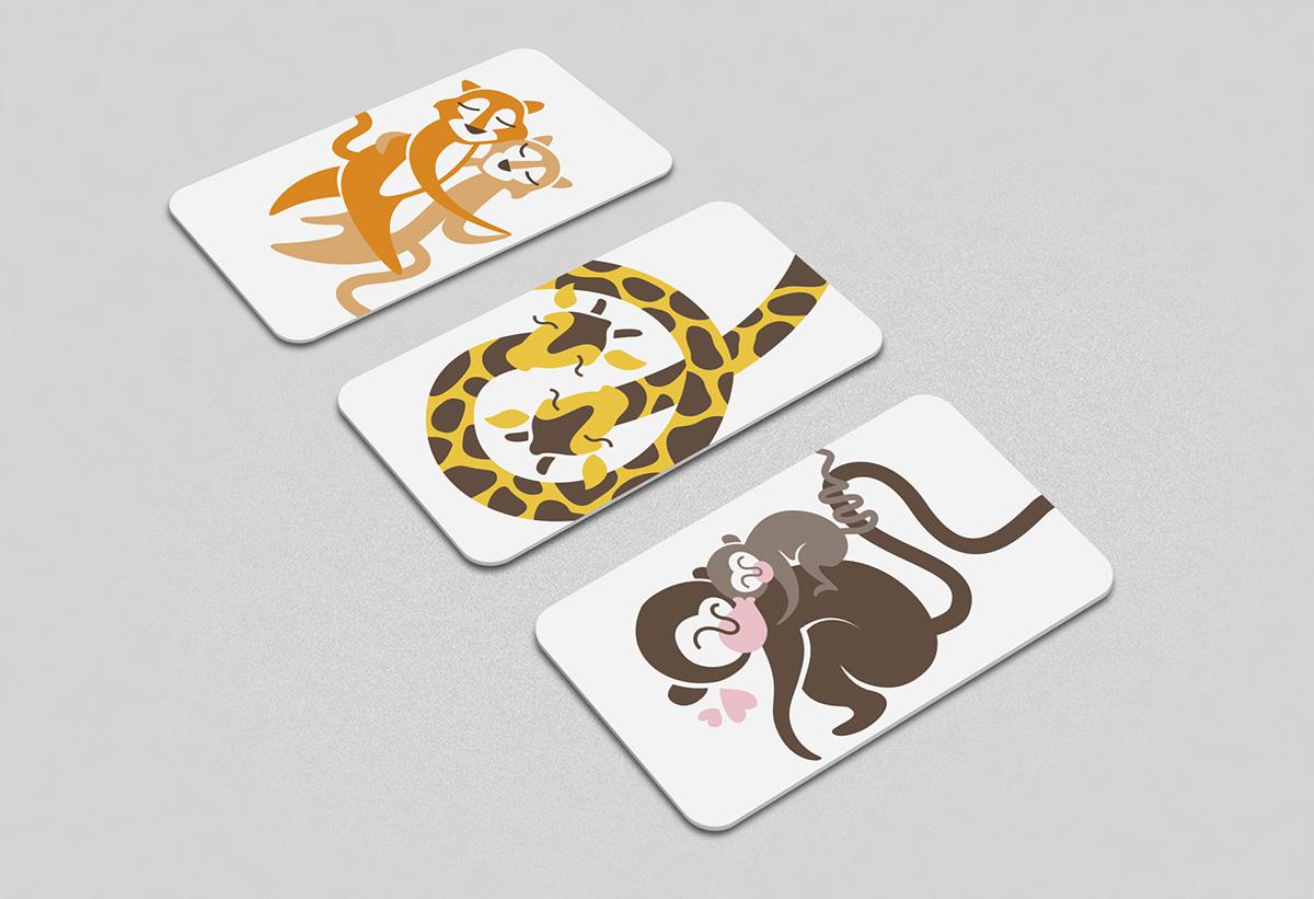 ilustración digital tarjetas regalo