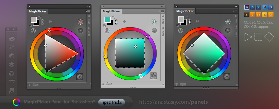 Tips Tricks 3 For Magicpicker Color Wheel Other Panels On Behance
