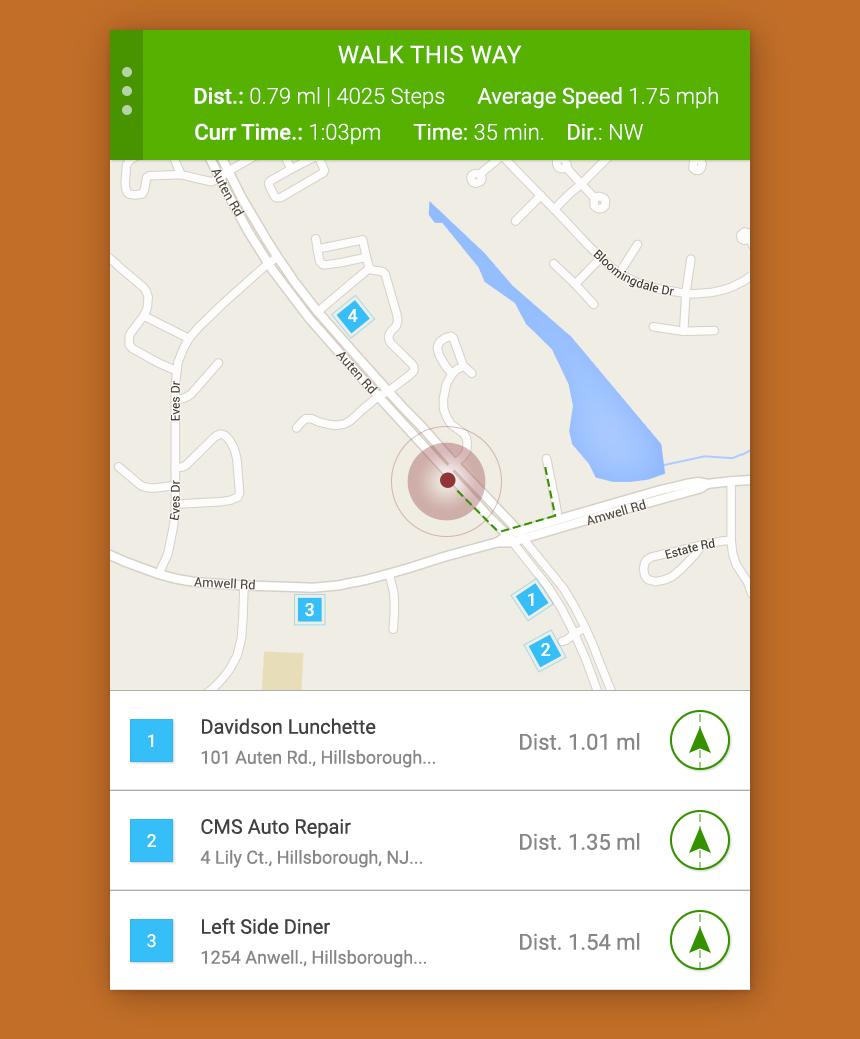 ui design UX design mobile app flat map location DailyUI