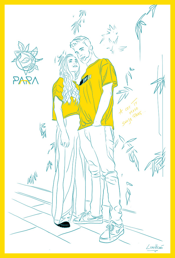 art sketch line woman man couple Drawing  yellow graphic