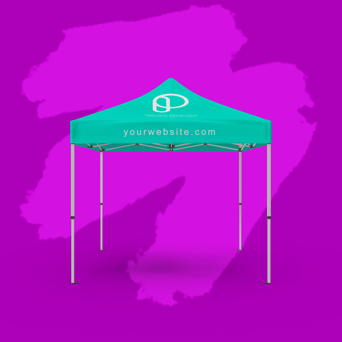 FREE SQUARE CANOPY TENT MOCKUP - EVENT BOOTH 10x10 on Student Show