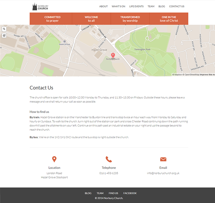 redesign large imagery church grid system lato wordpress retina svg Map Box Responsive Website Blog