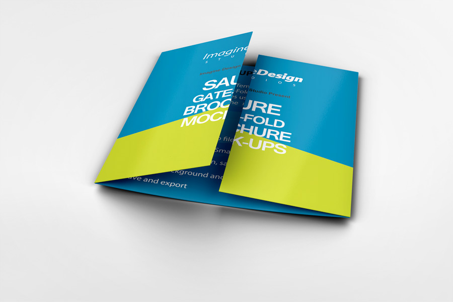 Wonderful Square Gate Fold Brochure Mockup On Behance Design