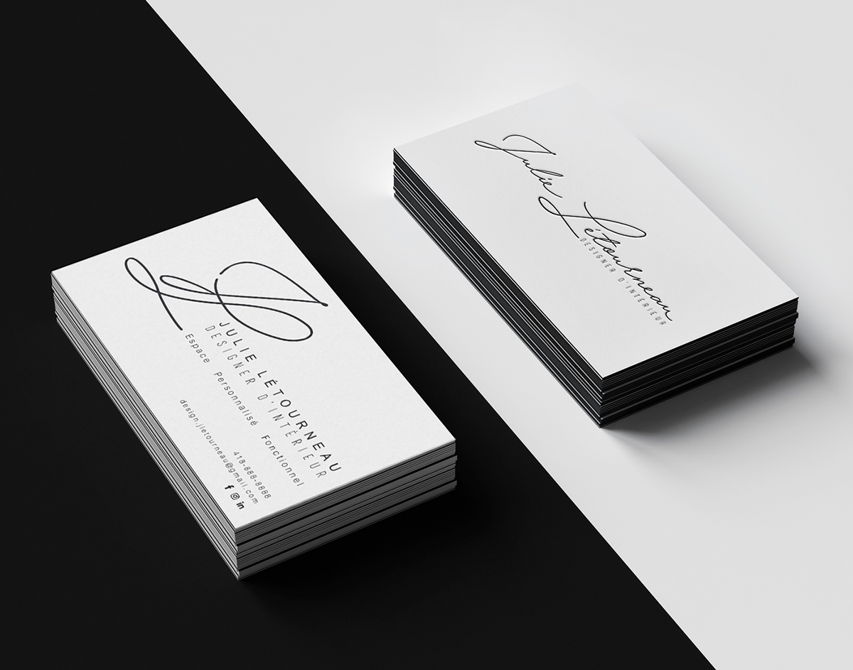 Julie Business card and Logo on Behance