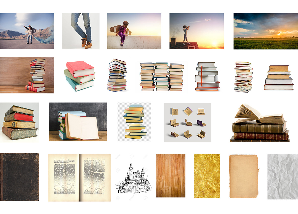 book childrens creative thinking digital artist fantasy imagination Landscape manipulation retouch surreal