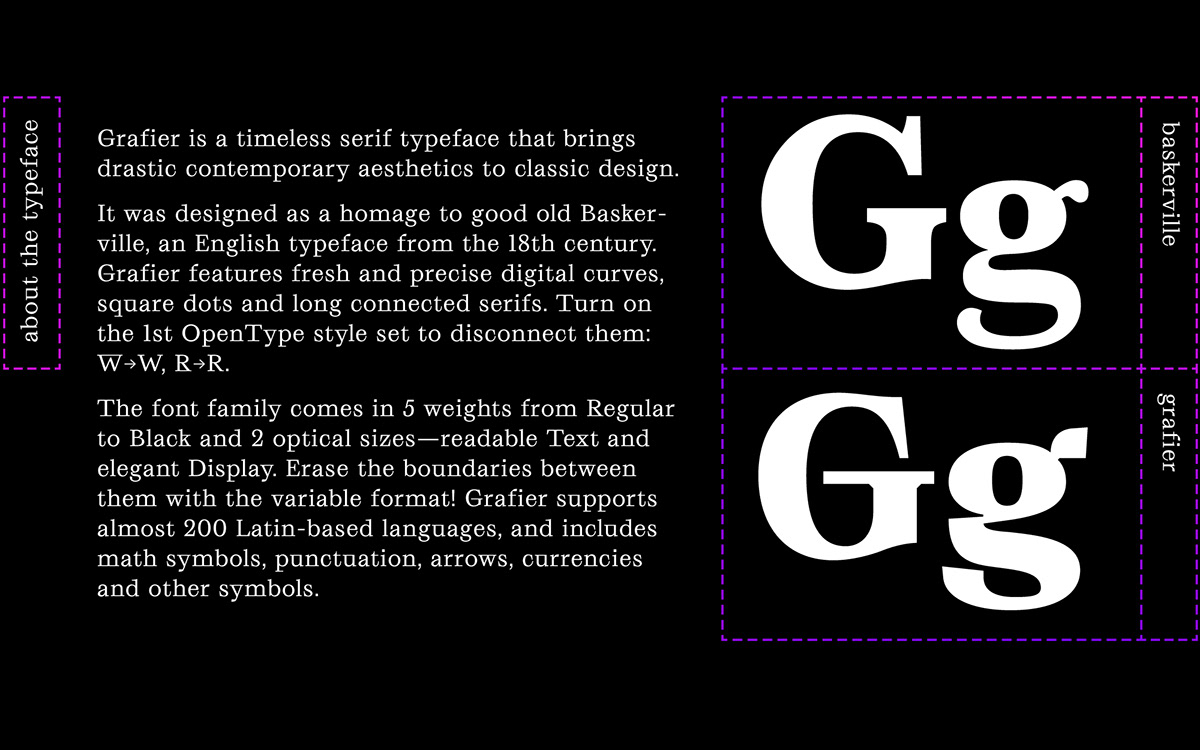 Grafier Serif Typeface | Free Fonts | Variable Font on
