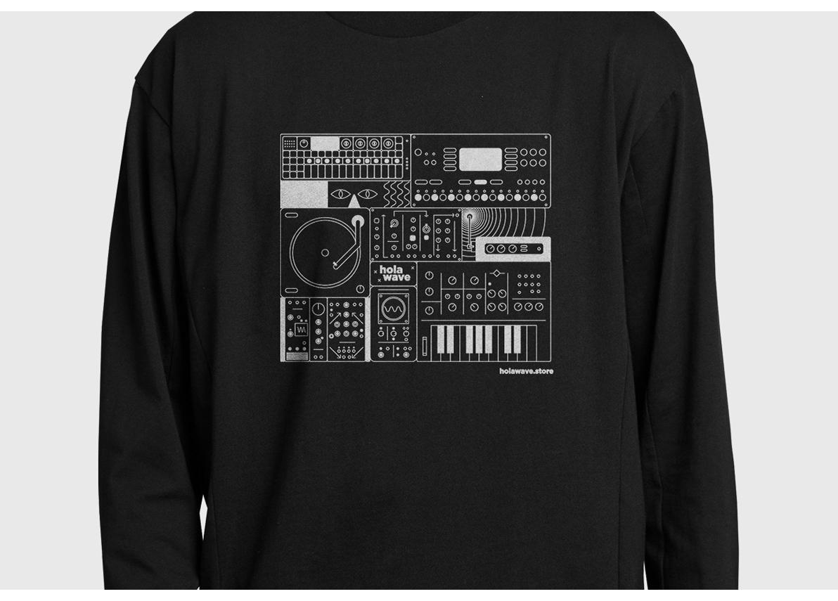 music store synthesizer Logotype electronic music music monogram mexico