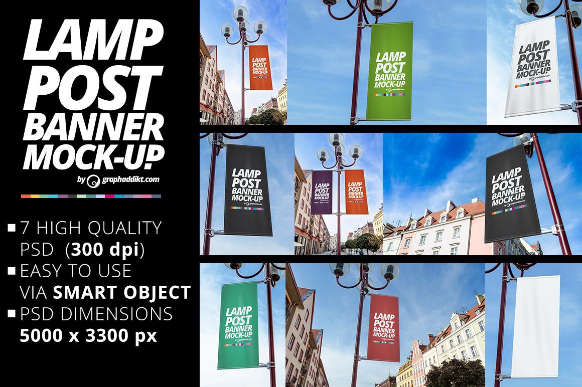 Free Psd Lamp Post Banner Mockup On Behance