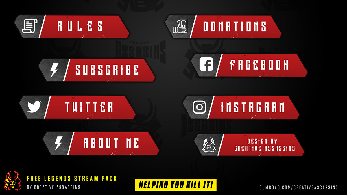 FREE Apex Legends Style Stream Pack for twitch & mixer on