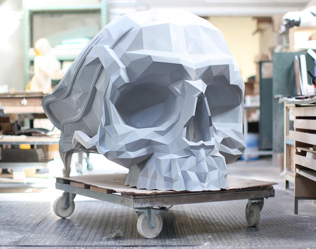 furniture luxury chair table Paris French skull art artistic armchair