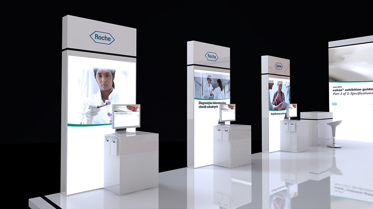 Stand Design For Roche On Behance